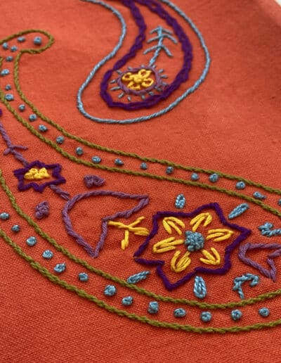 Paisley Embroidery Design. This bonus is featured in the Bandana Course.
