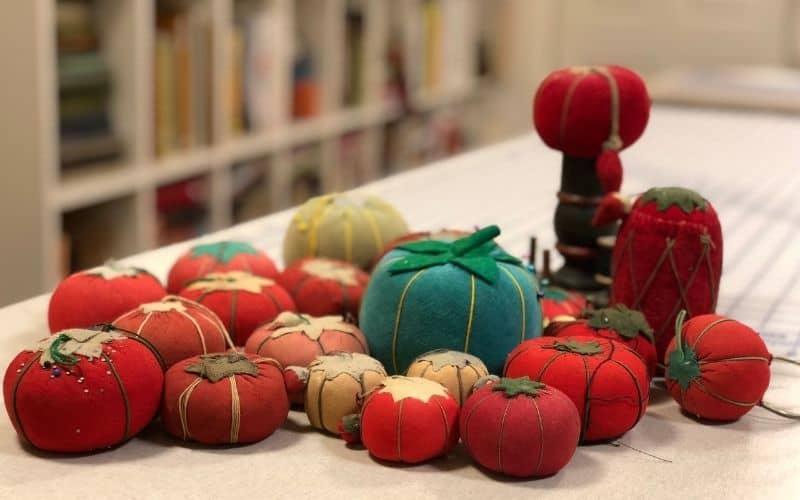 Tomato pincushion collection